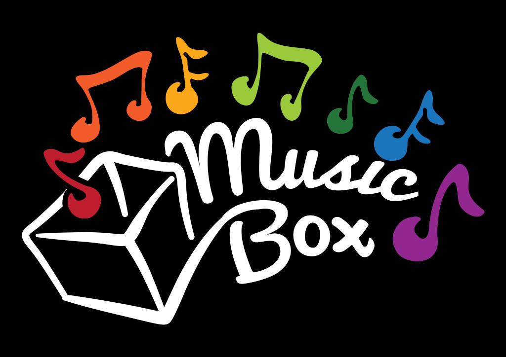 Music Box Logo White Text